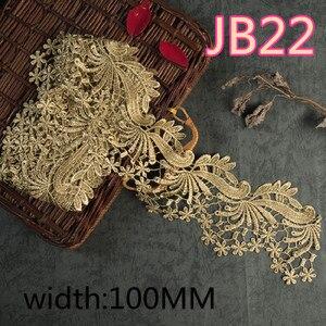 Image 5 - ASHION Золотой водорастворимый Вышитый цветочный кружевной тканевый мусульманский головной платок аксессуары для волос кружевная отделка