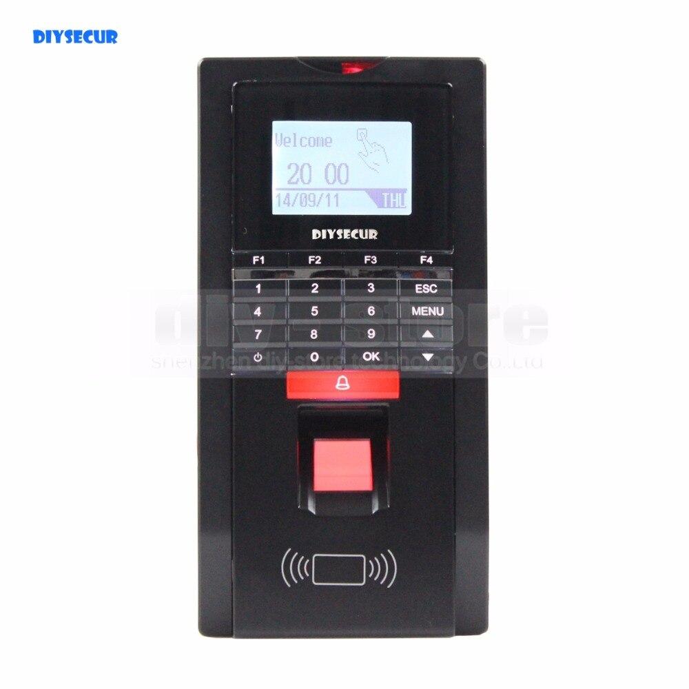 Horloge biométrique d'empreinte digitale de DIYSECUR et contrôle d'accès avec le lecteur de carte d'identification + TCP + USB