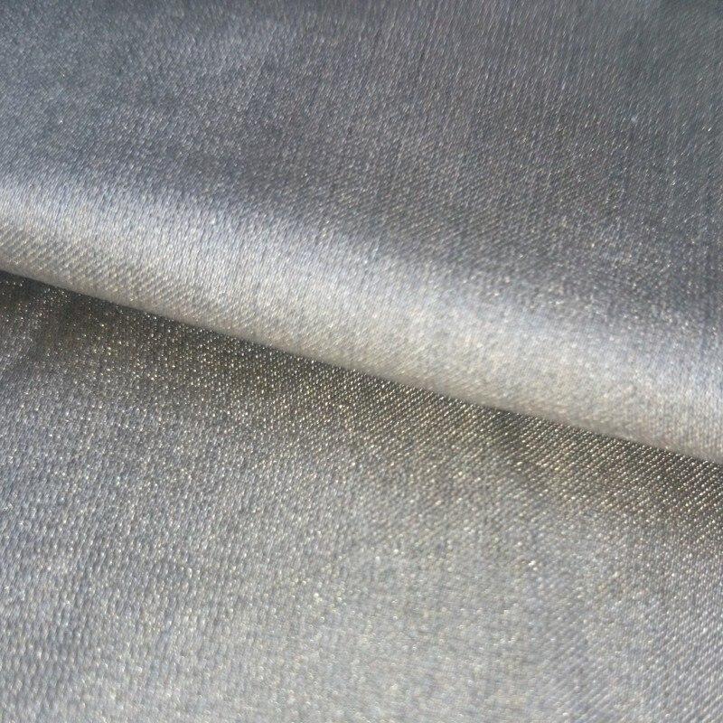Tissu de protection de fibre d'argent 100% Anti-4G tissu de rayonnement RFID bloquant le tissu de protection