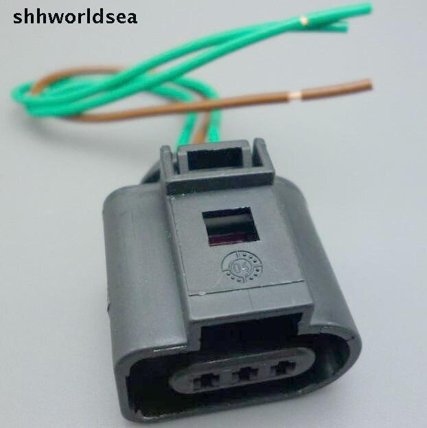 imágenes para Shhworldsea 10 unids 1J0973703 Árbol de Levas Cam Sensor Pigtail Conector para 02-04 Audi A4 A6 AVK 3.0 1J0 973 703 para VW