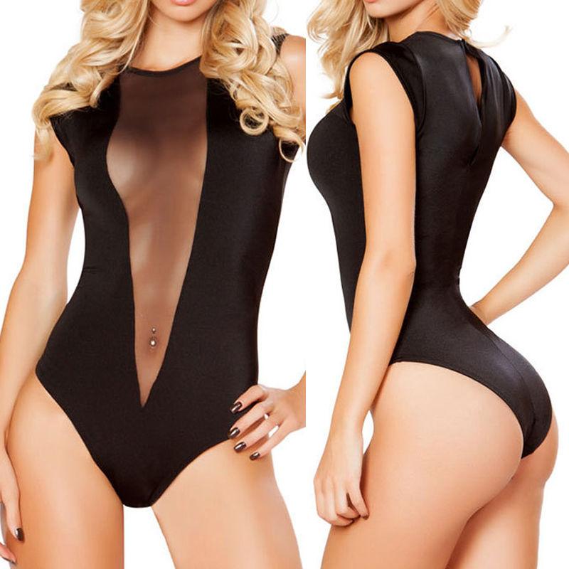 Svart Lace Bodysuit Ärmlös Sexig Kroppsdrag till Kvinnor Sexy Club Strap Women Bodysuit