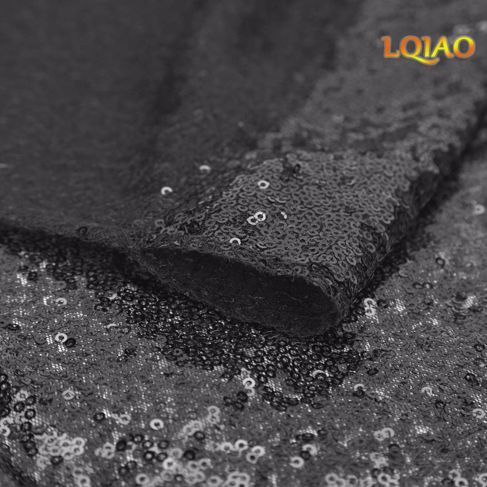 Black Sequin Curtain Backdrop-005