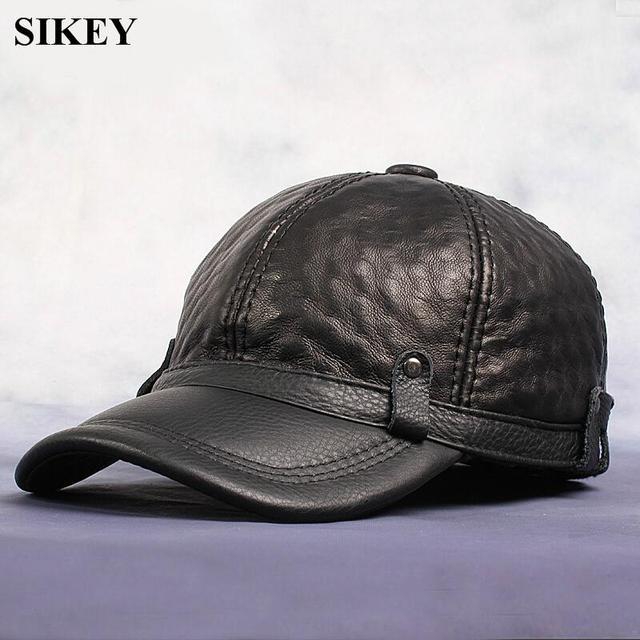 HL070 Genuino sombrero De Cuero del casquillo del cadete del motorista de  la motocicleta estrella tachonado cd8a4ae3607