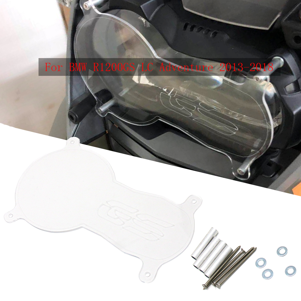 For BMW <font><b>R1200GS</b></font> Grille Headlight Protector Guard Lense Cover Fit For BMW R 1200 <font><b>GS</b></font> LC ADV 13-18 Acrylic <font><b>Motorcycle</b></font> Accessories image