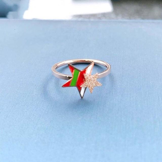2019 New star titanium steel ring Female Crystal from Austrian European popular
