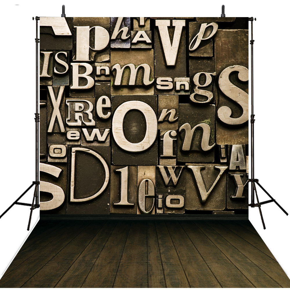 Wooden Photography Backdrops Vinyl Backdrop For Photography Fundo Fotografico Kids Background For Photo Studio Letter Photocall