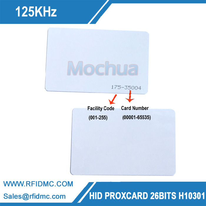 H I D card 1326 RFID Smart Card 125KHz 26Bit for access control Format H10301