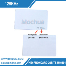 H-I-D card 1326 RFID Smart Card 125KHz 26Bit for access control Format H10301