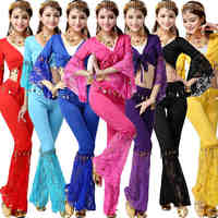 2015 2pcs Set Sexy Belly Dance Costume Bollywood Costume Indian Dress Bellydance Dress Womens Belly Dancing