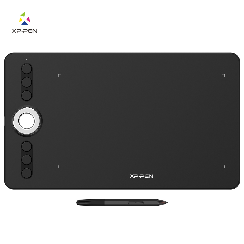 XP-Pen Deco 02 Graphics drawing Tablet Pen Tablet with P06 Battery-free Passive Stylus and shortcut keys (8192 levels pressure) xp pen star 03 graphics drawing tablet with battery free passive pen digital pen
