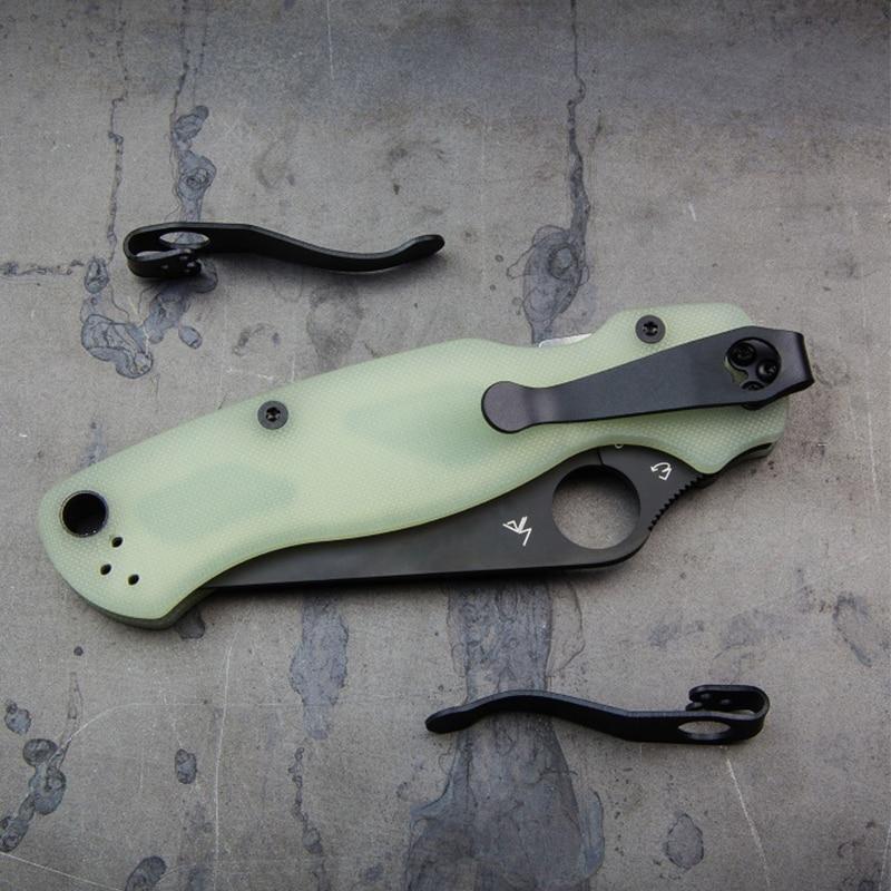 1PC Titanium Clip Spider C81 Back Clip Spider C10 Pocket Clip SPYDERCO Paramilitary 2 Knife Accessories Equipment Tool