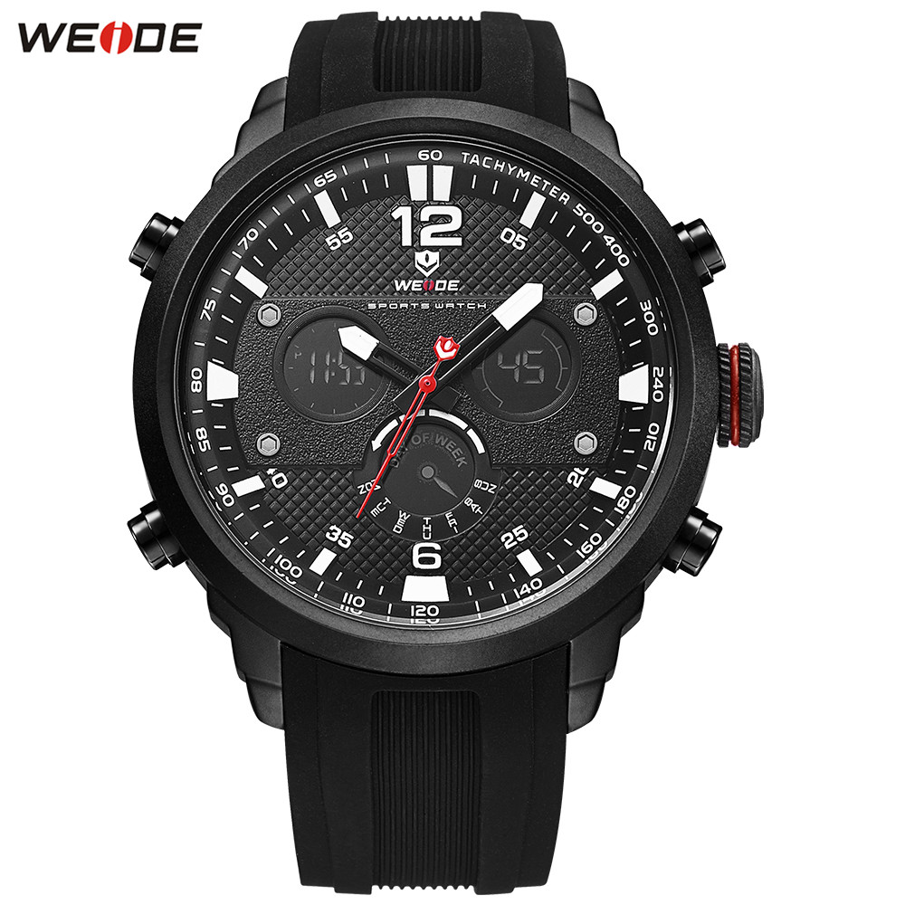 Fashion Relogios WEIDE Men LED Watch Functional Sport Watch Men Digital Quartz Watch Men Alarm Rubber Band Military Wristwatches цена
