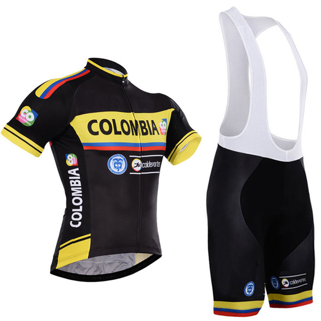 Colombia Cycling Jersey mountain Bike Wear clothing Short Sets MTB Ropa  Ciclismo Bicicletas Uniform Maillot Culotte 14ac620fc