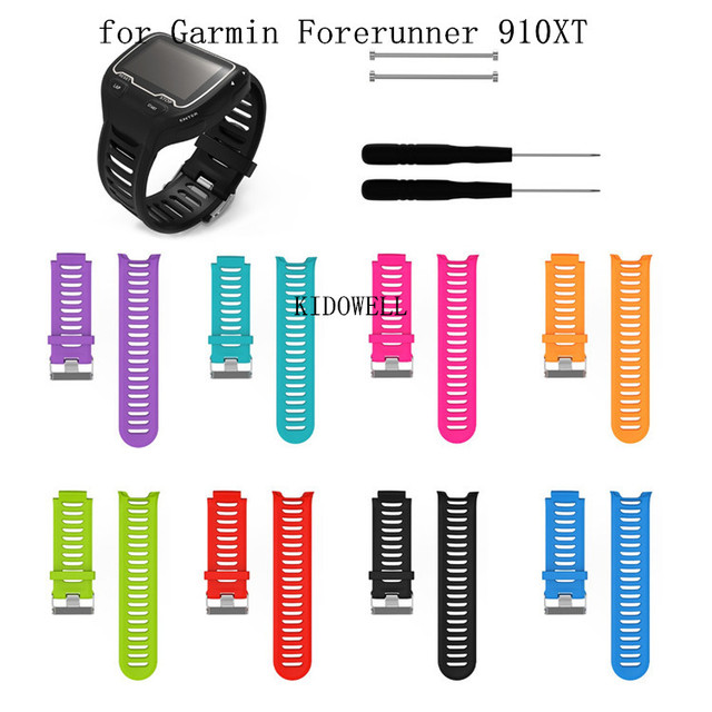 סיליקון צמיד שעון רצועת עבור Garmin Forerunner 910XT GPS רצועת השעון טריאתלון ריצה לשחות מחזור אימון ספורט להקת שעון