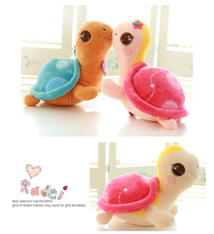 Free shipping Blue&Pink Sea Turtles/Tortoise Plush Toys little Cute Tortoise Plush Toys doll for Children best gift
