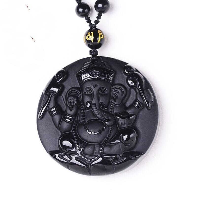 Flip-flops Kostenloser Halskette Mode Schmuck Für Frau Und Mann 100% Natürliche Schwarz Obsidian Geschnitzt Chinesischen Drachen Kopf Glück Amulett Anhänger