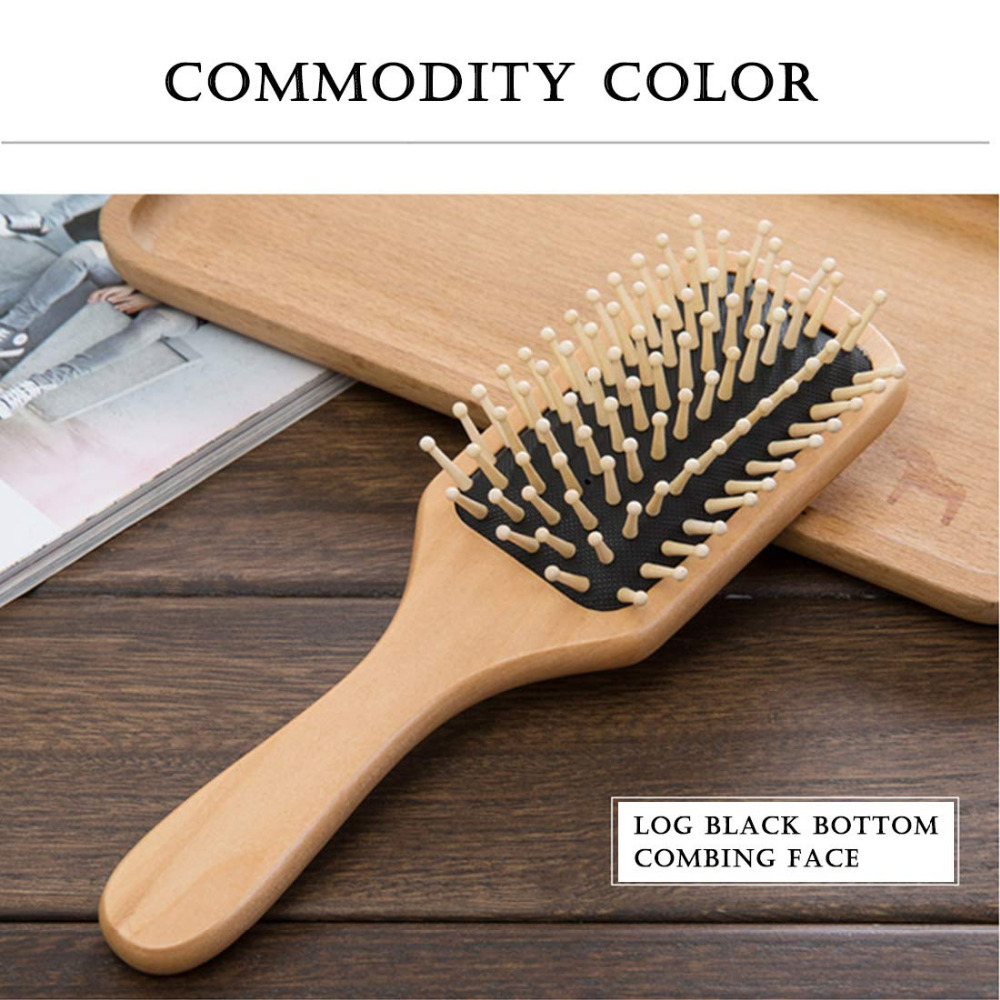 1 Come Massage Comb Paddle Brush Antistatic Hair Comb Anti Static Brushes Natural Wooden Massage Hairbrush Comb Scalp Health Car