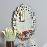 Moderne wand glas kosmetikspiegel venedig venezianischen spiegel wand dekorative gespiegelt kunst konsole spiegel