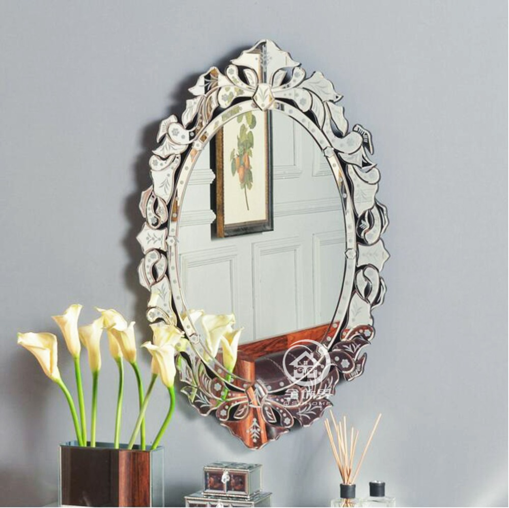 Modern wall glass vanity mirror venice venetian mirror for Mirror glass design