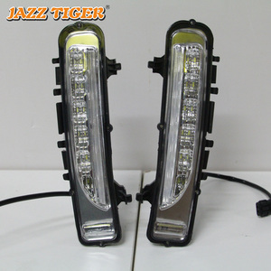Image 2 - JAZZ TIGER Yellow Turning Signal Function Waterproof ABS 12V Car DRL Lamp LED Daytime Running Light For Ford Edge 2009   2014