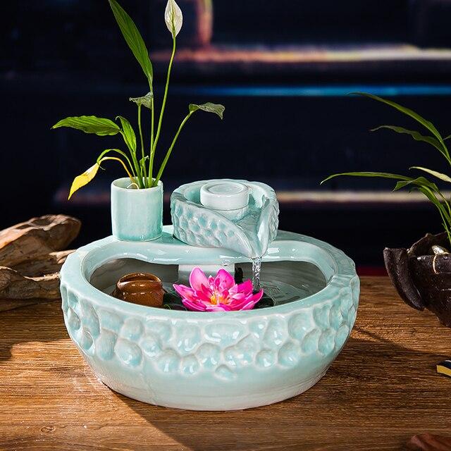 Céramique fontaine d\'eau décoration Ameublement salon feng shui ...