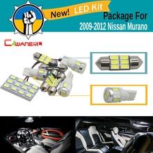 Cawanerl 13 X автомобилей 5630 SMD Светодиодная лампа Географические карты купол Шаг Магистральные Номерные знаки для мотоциклов светодиодные комплект белый для Nissan murano 2009-2012