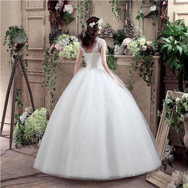 1950s Women Vintage Wedding Dress Elegant Lace Patchwork Wedding