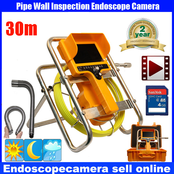 30M Waterproof Video Camera 7LCD Screen Drain Pipe Inspection camera tube Sonde Drain Cl ...