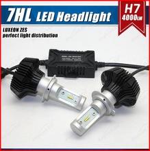 1 Set H7 50W 8000LM G7 LED Headlight Kit LUMILED LUXEON ZES 16LED SMD Chips Fanless 6500K Xenon White Driving Fog DRL Lamp Bulb