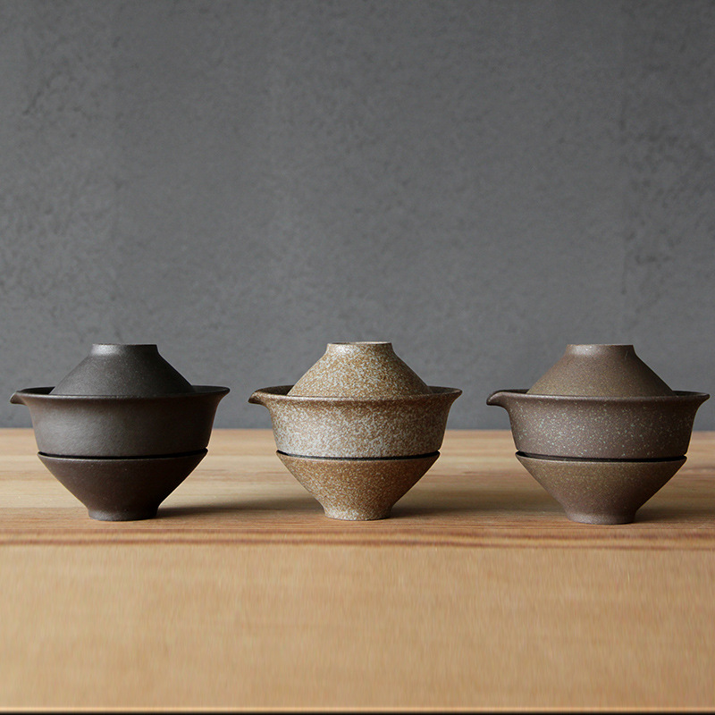 Portable Travel Gong Fu Tea Gaiwan Set 3