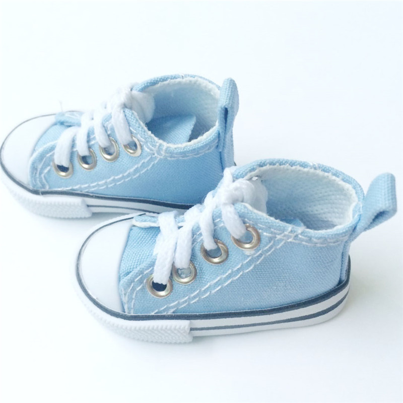 Toy Shoes Canvas Shoes 7.5 cm for 1/4 Scale Dolls, BJD Doll Shoes Accessories Assorted Colors