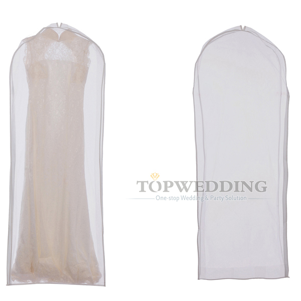 White Wedding Dress Suit Garment Bag Clothes Packing Dust Cover