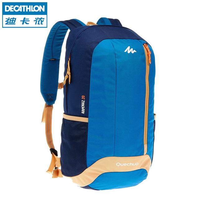 5844a20c948b2 Decathlon Leisure Travel Shoulder School Bag Junior High School College  Sports High Tide Backpack 20L QUECHUA