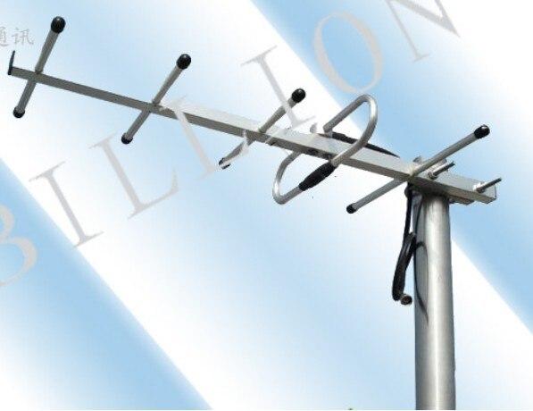 Exterior 5 elementos UHF antena yagi 9 dBi base antena yagi para dvb t2 470 - 700 MHz de recepción