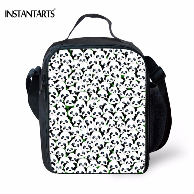 4c8a3a6579b6 US $15.59 22% OFF|Aliexpress.com : Buy INSTANTARTS Panda Printed Lunch Bag  for School Children Cartoon Pug Dog Insulated Portable Picnic Bags Cooler  ...