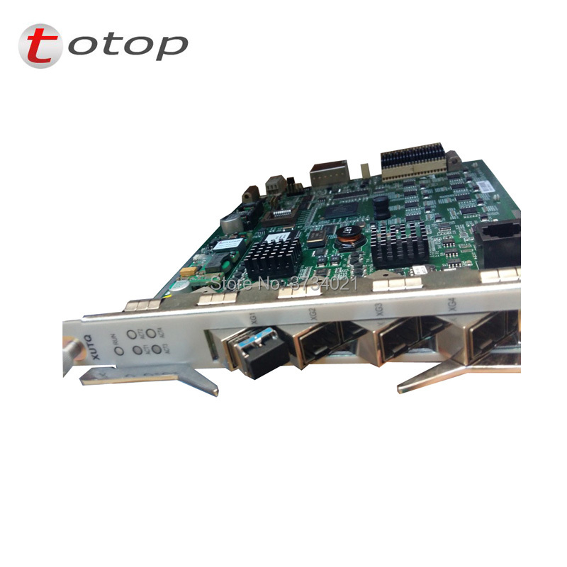 ZTE/FiberCoreOriginal ZTE 4 ports 10 G plate uplink XUTQ for C300 olt. Xutq for C300 OLT with 2 pcs module Original 10 G uplink