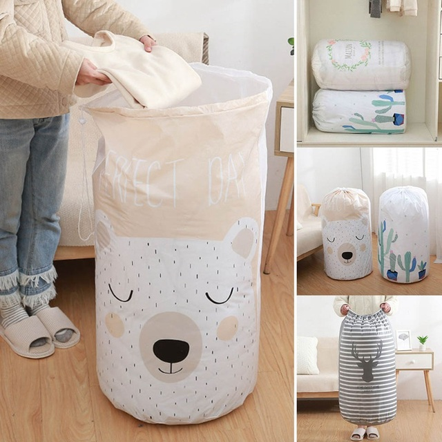 Home Large Organizer Storage Bag Clothes Packaging Toy Packing Bag Quilt Closet Clothing Luggage Bag For Pillow Blanket Bedding