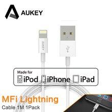 AUKEY Usb-кабель Молния МФО Для Cavo iPhone Apple iphone 7 5S 6 s Плюс iPad Chargur Данных Портативное Зарядное Устройство Кабельной Линии IOS 9 10