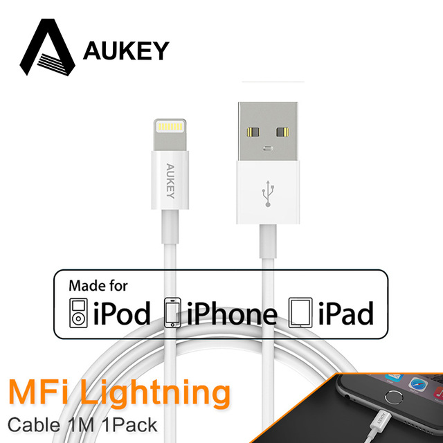 Aukey Usb Cable Lightning Mfi For Cavo Iphone Apple Iphone 7 5s 6s Plus Ipad Chargur Data Portable Charger Cable Line Ios 9 10 Portable Charger Cable Charger Cableusb Cable Aliexpress
