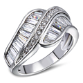 Rings for girl gold & white gold plated sweet Ring high quality party jewelry Free shipping Full size #6, #7, #8, #9, #10