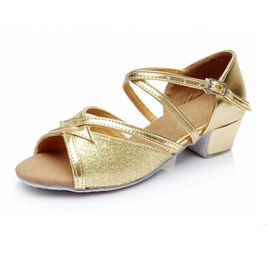 Golden Latin Dance Shoes Girls Woman Zapatos Salsa Mujer Ballroom Zapatos De Baile Latino Mujer Free Shipping