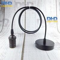 Copper Matt Black Vintage E27 Holder AC90 260V Modern Fashion Design Creative Pendant Lamps 100cm Cord