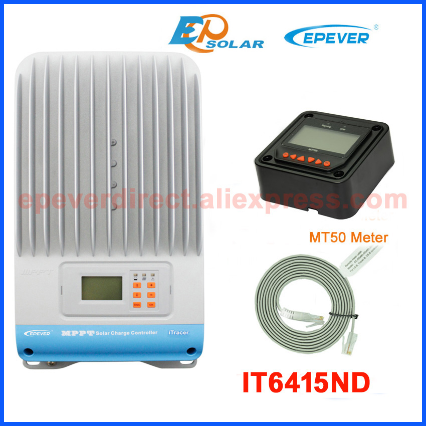 60amp <font><b>60A</b></font> solar <font><b>battery</b></font> <font><b>charger</b></font> Controller IT6415ND for home use with MT50 remote meter