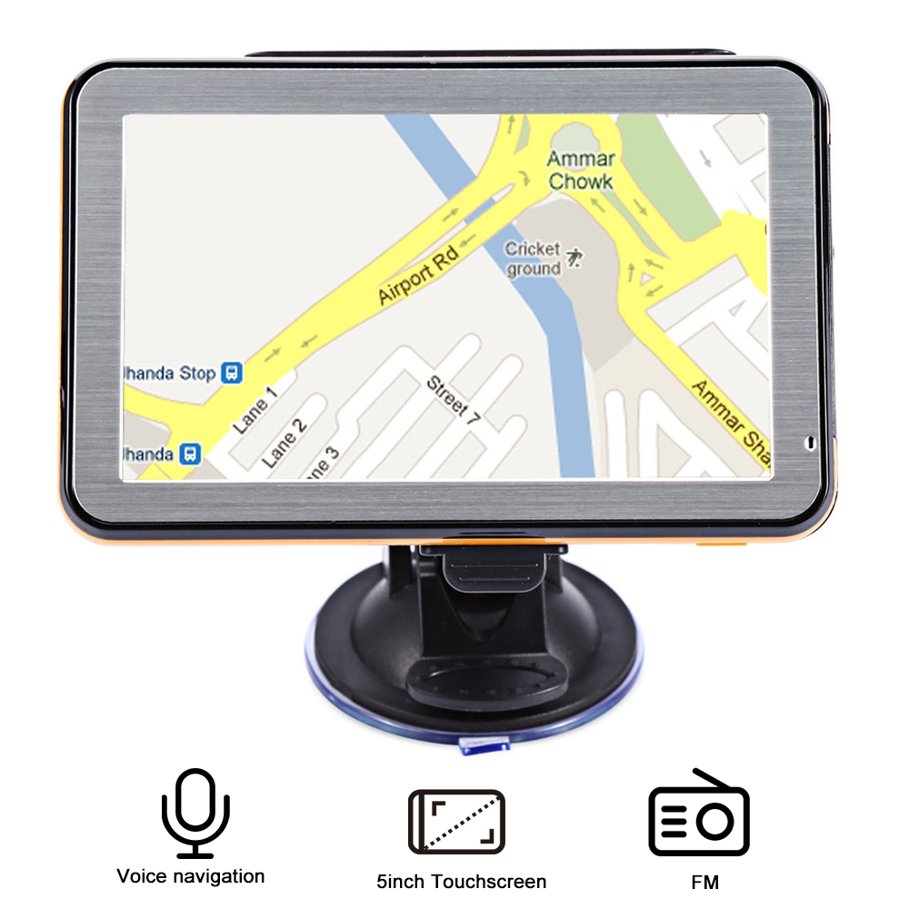 5 inch Car Vehicle GPS Navigation Voice Guidance Truck GPS Navigator Multifunction Free Maps FM Radio 5 3 lcd 396mhz windows ce net 5 0 core gps navigator w fm transmitter 2gb maps