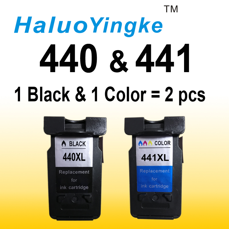 2PK PG440 CL441 XL Ink Cartridge Replacement for Canon PG 440 PG-440 CL 441 for PIXMA MX374 MX394 MX434 MX454 MX474 3540