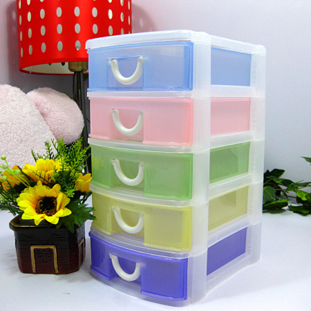 Free shipping plastic drawer storage box plastic storage box small chest of drawers cabinet finishing Desktop & Free shipping plastic drawer storage box plastic storage box small ...