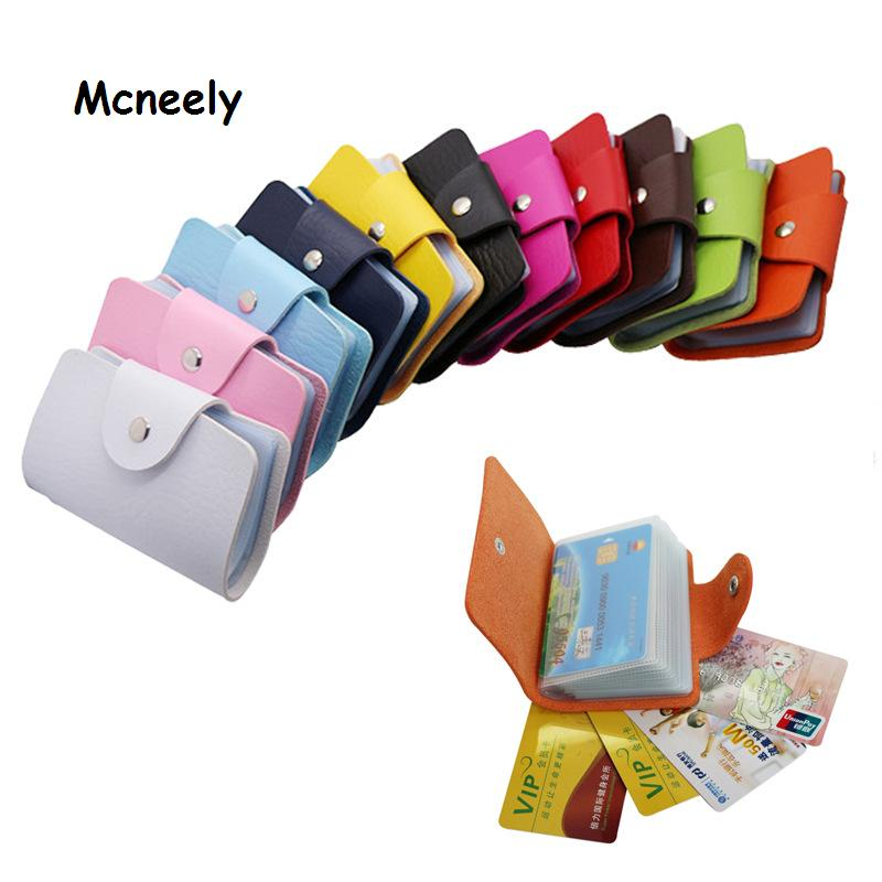 Hot Leather Bank Credit Card Case Unisex Business Card Holder Wallet ID Holders High Capacity Card Holder 24 Cards