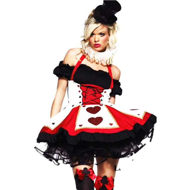 Sexy queen of hearts costumes