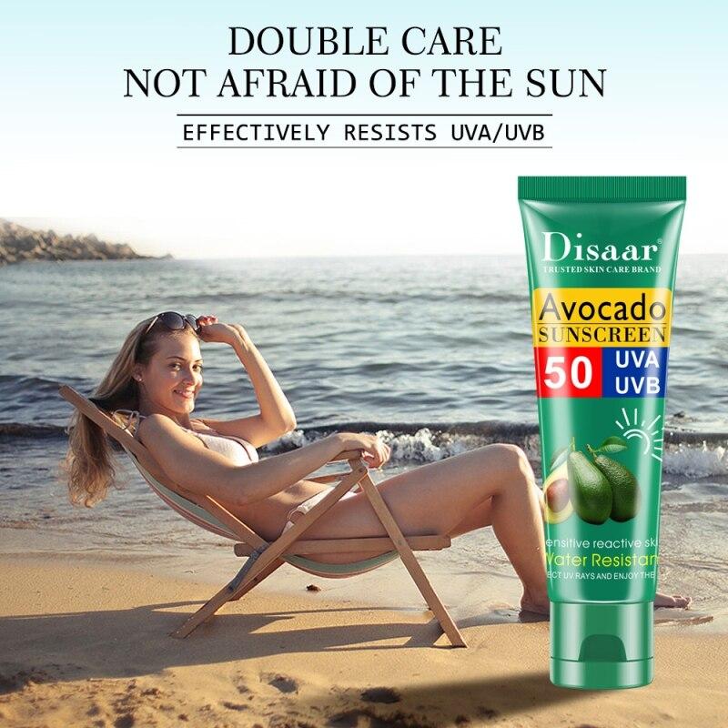 Skin Care Summer Facial SPF50  Avocado Sunscreen Cream Shea Butter Free Radical Scavenger Anti Oxidant Deep Repair