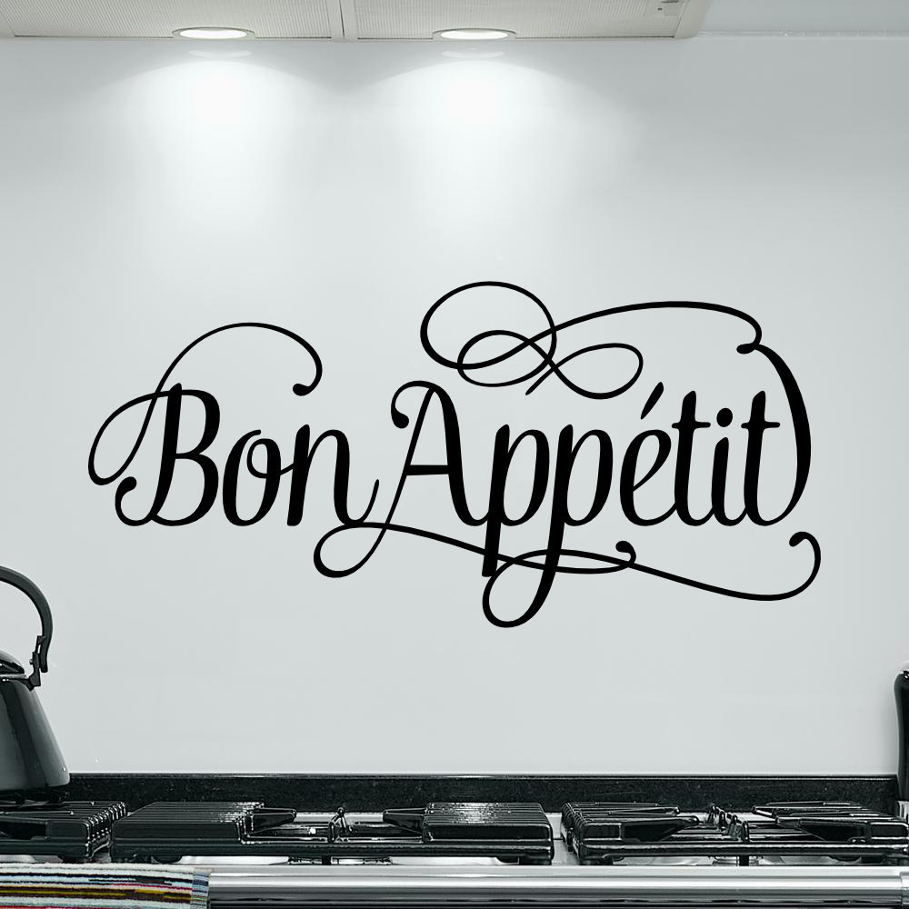 Spanish Wall Decal -Bon Appetit vinyl wall decal - Home Wall Decal Vinyl Lettering Living room Home Decor